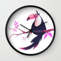 toucan Wall Clocks featuring Toucan by Katikut