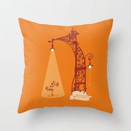 Passeig de Gracia, Barcelona Throw Pillow