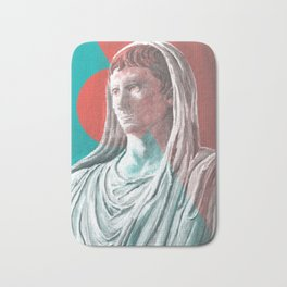 Augustus As Pontifex Maximus (Aqua & Red) Bath Mat