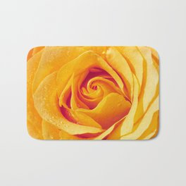 Gold Rose Bud- Yellow Roses and flowers Bath Mat
