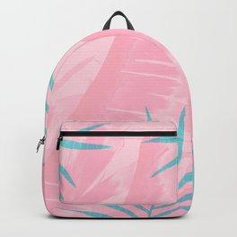 Elegant Palm Trees Pink Foliage Design Backpack