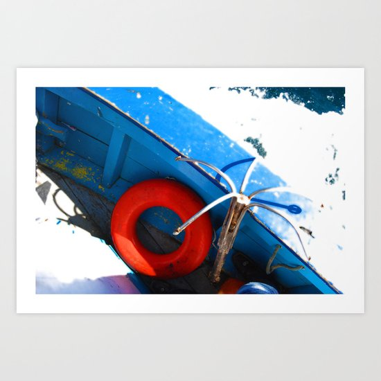 Lifesaver Art Print