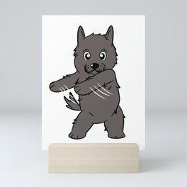 Flossing Scottish Terrier Floss Dance  Mini Art Print