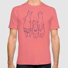 BB & Cats in Underwear Mens Fitted Tee MEDIUM Pomegranate