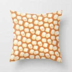 Marshmallow Pattern - Chocolate Throw Pillow