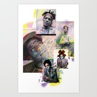 basquiat Art Prints featuring Basquiat by Andrew Spangler