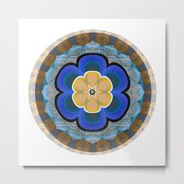 Hyperspace Portal Innerstanding Meditation Mandala Boho Floral Trip Metal Print