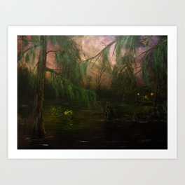 Swamp La Vie: Scouting in Twilight (2015) Art Print