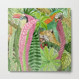 Jungle animals Metal Print