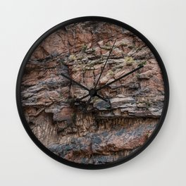 Royal Gorge Rock Formation Texture Wall Clock