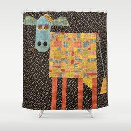 Mary Lou Moo Shower Curtain