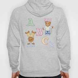 Teddy Bear Alphabet ABC's Green Hoody