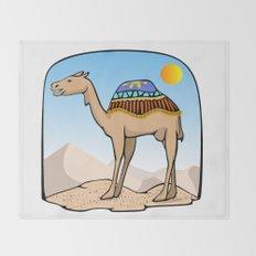 Exalted Camel Throw Blanket