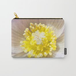 Watercolor Flower, White Pasque Flower 04, RMNP, Colorado Carry-All Pouch