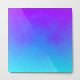 Blue and Purple Ombre - Swirly - Flipped Metal Print