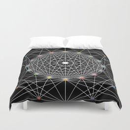 Geometric Circle Black/White/Colour Duvet Cover
