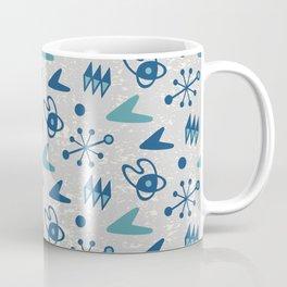 Mid Century Modern Atomic Boomerang Pattern Grey Green 108 Coffee Mug