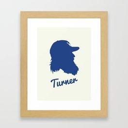 Justin Turner Framed Art Print
