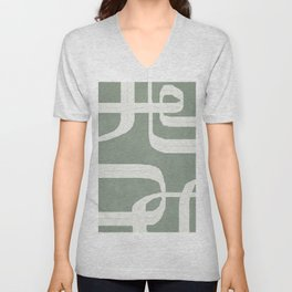 Abstract Lines II Unisex V-Neck