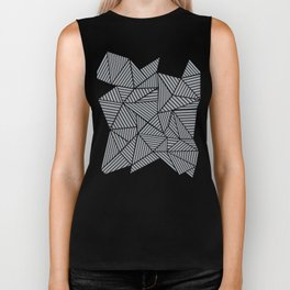 Abstract Mountain Grey Biker Tank