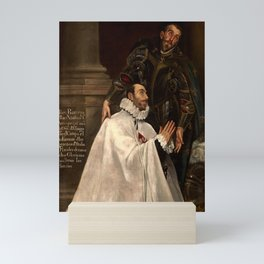 "El Greco (Domenikos Theotokopoulos) ""Julián Romero and his Patron Saint"" Mini Art Print"