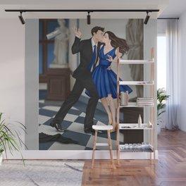 clandestine kiss Wall Mural