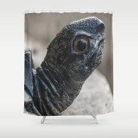 turtle Shower Curtains featuring Turtle by MehrFarbeimLeben