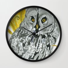 Twilight Guardian Harry Potter Owl Wall Clock