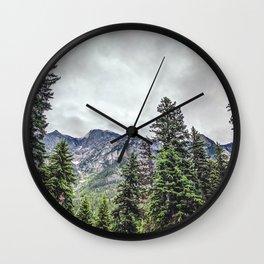 Mountain Wilderness | Pacific Northwest | Mountain Landscape Wall Clock