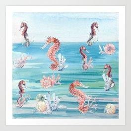 Sea of Sea Horses Art Print