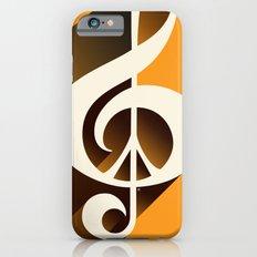 Retro Shadow Music & Peace, Orange iPhone 6s Slim Case