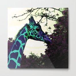 Alien Giraffe Has Landed Metal Print