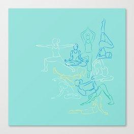 Turquoise Yoga Canvas Print