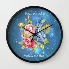 Roses are Red Wall Clock