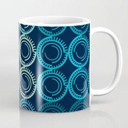 Blue Circles Abstract Pattern Coffee Mug