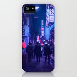 Tokyo Nights / One Minute To Midnight / Liam Wong iPhone Case