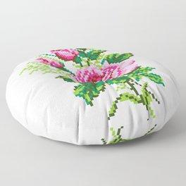Pixel Rose Floor Pillow
