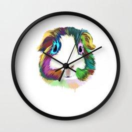 Splash Guinea Pig Wall Clock