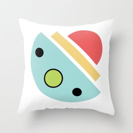 Chatty spaceship Throw Pillow