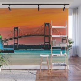 Newport Bridge - Newport, Rhode Island - Conanicut Island Sunset Wall Mural
