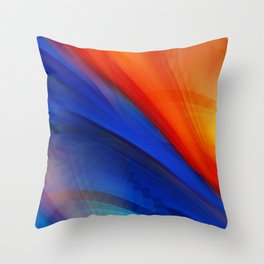 Bright orange and blue Throw Pillow