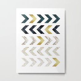 Geometric Pattern XX Metal Print