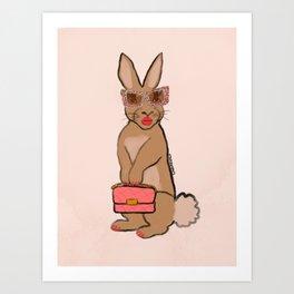 Bunny Babe Art Print