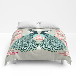 Peacocks by Andrea Lauren  Comforters