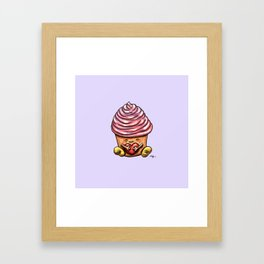 Cupcake Hug Framed Art Print