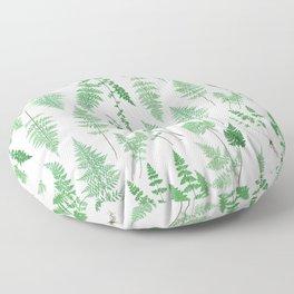 Ferns on White I - Botanical Print Floor Pillow