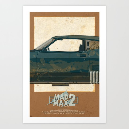 Mad Max's Black on Black Interceptor from The Road Warrior, 2 of 3 Art Print