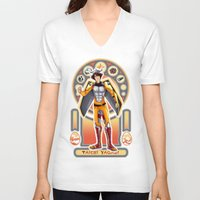 digimon V-neck T-shirts featuring Digimon Cards: Tai by Dralamy