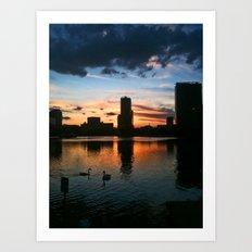 Lake Eola Sunset With Swans Art Print