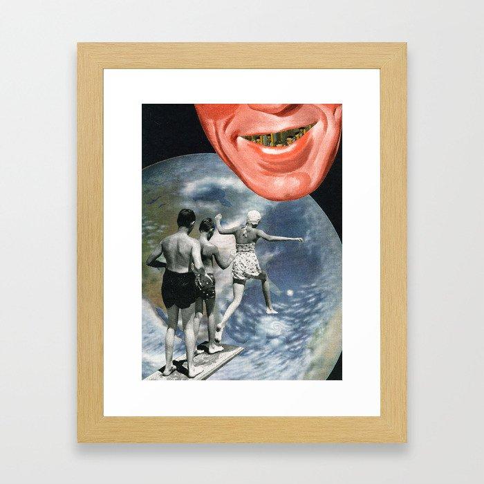 Beware Framed Art Print